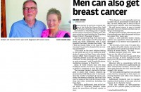 Men are not immune to breast cancer