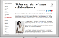 SAPA's end: start of a new collaborative era