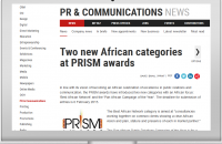 Two new African categories at PRISM awards