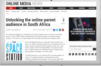 UNLOCKING THE ONLINE PARENT AUDIENCE IN SOUTH AFRICA