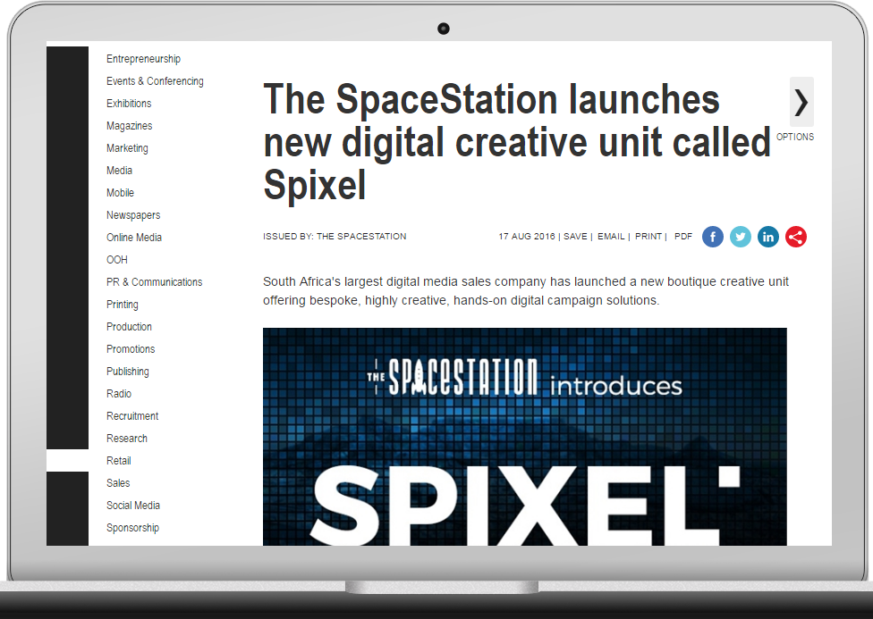 MANGO-OMC Client News, The SpaceStation press release