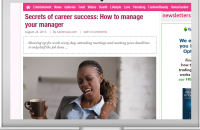 SECRET OF CAREER SUCCESS: HOW TO MANAGE YOUR MANAGER