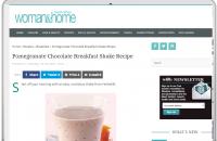 POMEGRANATE CHOCOLATE BREAKFAST SHAKE RECIPE