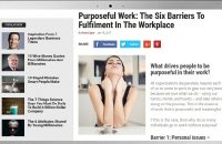 PURPOSEFUL WORK: THE SIX BARRIERS TO FULFILMENT IN THE WORKPLACE