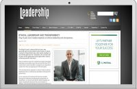 ETHICAL LEADERSHIP AND TRANSPARENCY
