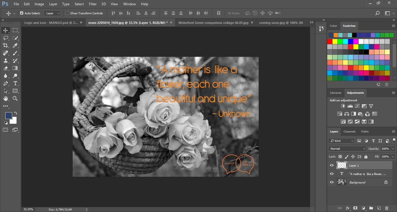 Editing and creating images for PR use - Mango OMC
