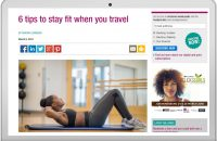 6 tips to stay fit when you travel