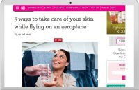 5 ways to take care of your skin while flying on an aeroplane