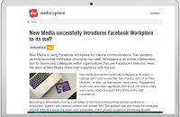 New Media successfully introduces Facebook Workplace to its staff