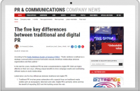 The five key differences between traditional and digital PR