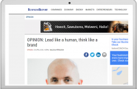 OPINION: Lead like a human, think like a brand