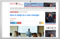 How to adapt as a new manager