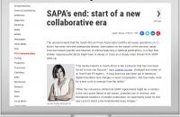 SAPA's end: start of a new collaborative era