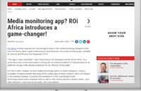 ROi Africa introduces a media monitoring app