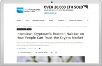 Interview: Krypteum's Brenton Naicker on How People Can Trust the Crypto Market